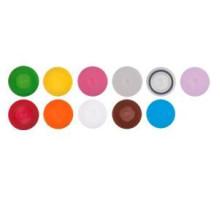SCO-(B-Y)-S Винтовые крышки с кольцевой прокладкой (для пробирок 0,5 мл, 1,5 мл, 2,0 мл, стерильные, 11 цветов, Axygen, США, 500 шт./уп.)