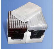 RFL-300-C Наконечники универсальные для дозаторов объемом 10 мкл, в штативе (блок 96х10, с фаской, Axygen, 960шт./уп.)
