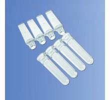 PCR-0104-C  Пробирки объемом 0,1 мл в стрипах по 4 шт. (с крышками, Axygen, 250 стрип./уп.)